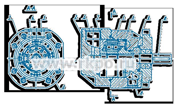 Схема насоса пластинчатого НПл