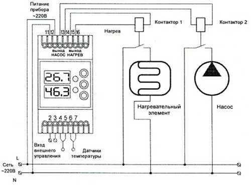 Схема регулятора температуры воздуха