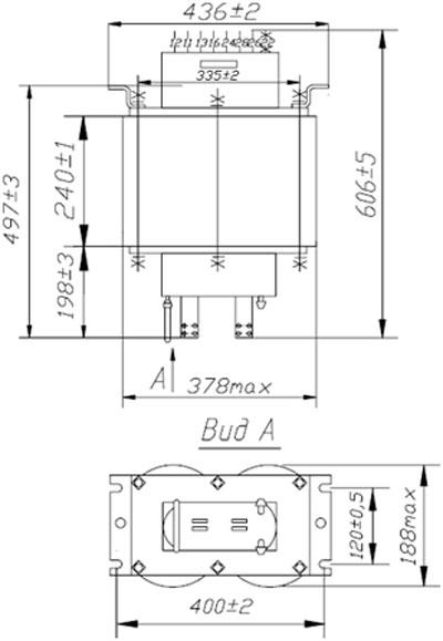 Схема габаритов ТВК-75