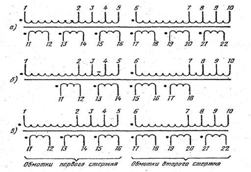 Схема трансформаторов 127/220