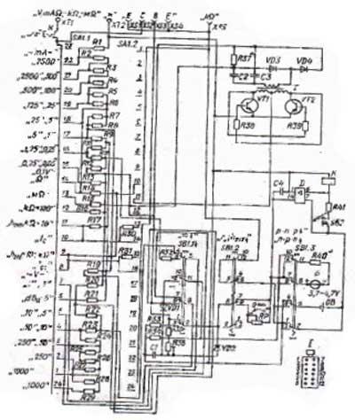 Схема тестера 4342-м1
