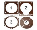 Ремкомплект прокладок биконитовых для редуктора мотоблока фото 1