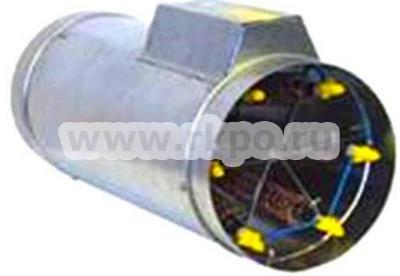 Калориферы электрические для круглых каналов с продольным размещением оребрённых ТЭНов фото 1