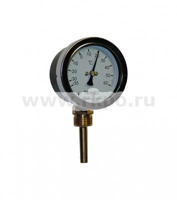 Термометр биметаллический радиальный ТБУ-63 - фото